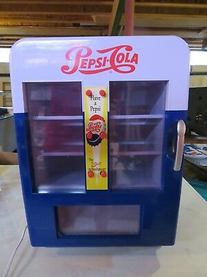 Pepsi-Cola Vending Machine--Table Top--Holds 12 Cans--No Coins Needed!