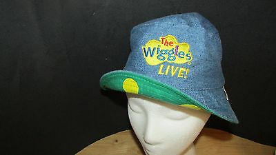 The Wiggles Live Dorothy Bucket Hat Reversible Denim Inside green yellow  dots 71bd069e092