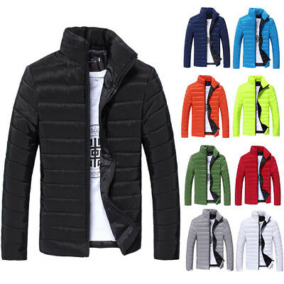 US Hot Men's Winter Hooded Thick Padded Jacket Zipper Slim Outwear Coat Warm New