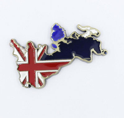 "3D Metal Fridge Magnet ""UK Flag Map"" Travel Souvenir Gift Brand New"