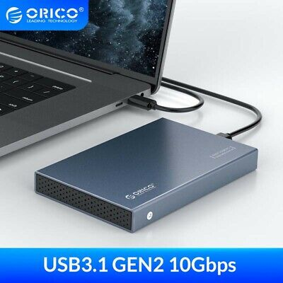 "ORICO 2.5"" Type-C HDD Case USB 3.1  Gen2 Aluminum Enclosure for 7-9.5mm SSD 4TB"
