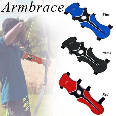 Archery Armguard Bow Hunting Shooting Arm Guard Protection W/2-Straps Protector