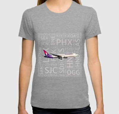 Hawaiian Airlines 767 with aircraft names - T-Shirt (Mens or Womens)