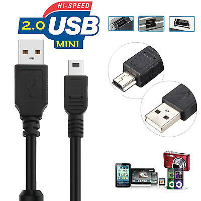 NEW ROCKETFISH 6/' USB GOLD MINI B CABLE w//5-to-4 PIN ADAPTER RF-PCC104 IE800