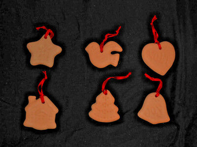 Six Ornaments - Dove, Heart, Tree, Star, Bell, House - look like cookies