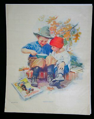 """CREAM of WHEAT """"Fifty-Fifty"""" E.V. BREWER 1923 Magazine Advertisement"""