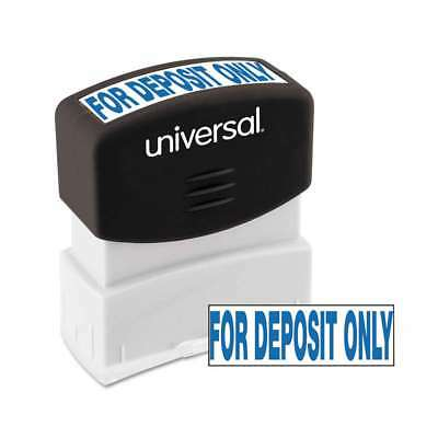 Universal® Message Stamp, for DEPOSIT ONLY, Pre-Inked One-Color,  087547100561