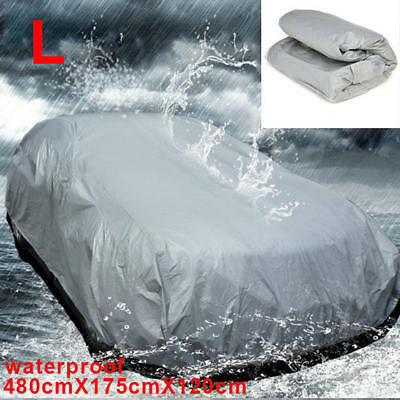 New Universal Heavy Duty Full Car Cover UV Protection Waterproof Breathable Grey