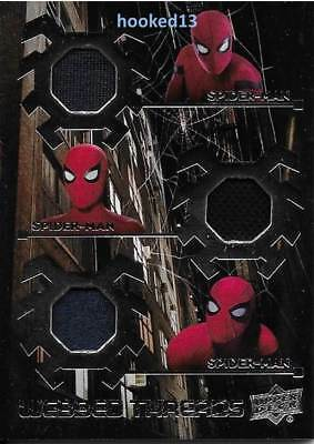 Marvel Spider-Man Homecoming Webbed Threads TRIPLE COSTUME Relic Card #WTT4