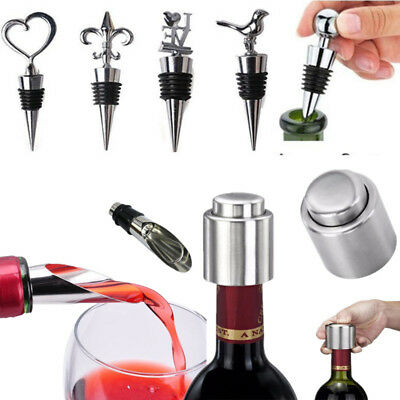 Wine Bottle Stopper Champagne Vacuum Sealed Wedding Gift Stainless Steel Reusabl