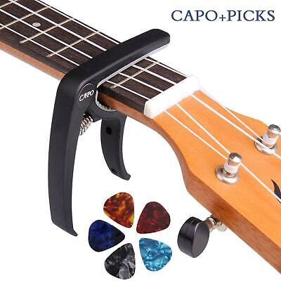 Quick Change Trigger Capo Key Clamp for Acoustic Electric Classic Ukulele Guitar