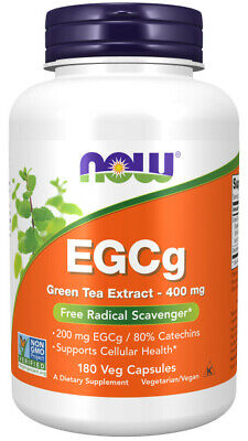 Now Foods, EGCg Green Tea Extract, Radical Scavenger, 400mg, 180 Veg. Kapseln