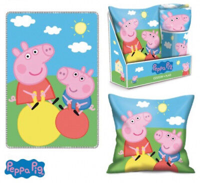 Peppa Wutz Pig SET Kissen & Fleece-Decke