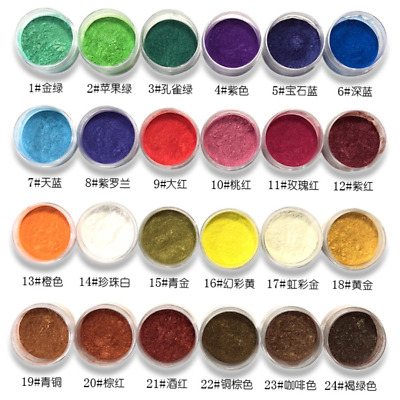 54 Color Cosmetic Grade Natural Mica Powder Pigment Soap Candle Colorant Dye 10g