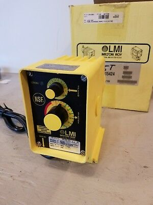 LMI Milton Roy A151-95T Electromagnetic Dosing Pump, Used Condition, Enclosure 3