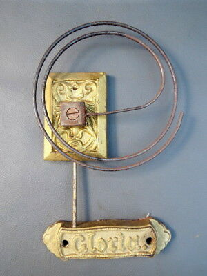 Vintage Gloria wall clock chime gong with metal coil spares parts