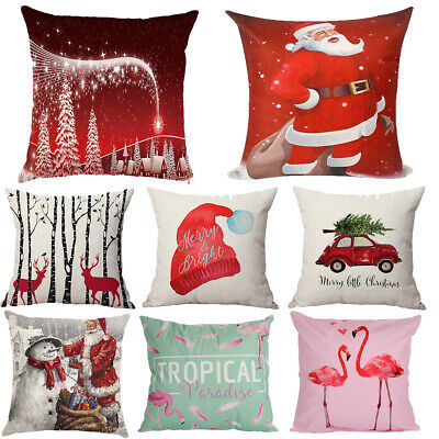 Fashion Designer Cushion Covers Christmas Xmas Sofa Pillow Case Gift Soft Touch