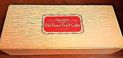 Vintage BENSON'S OLD HOME FRUIT CAKE BOX – Cool Retro Gift Box