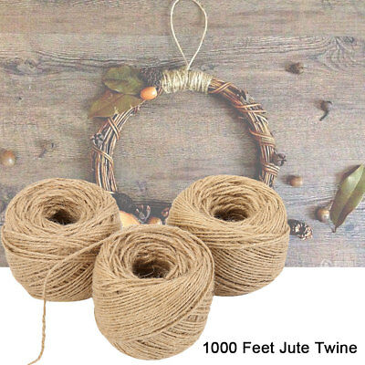 304M Natural Jute Twine Hessian Rustic Gift Wrap Wedding Decoration String Cord