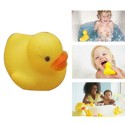 20Pcs Cute Rubber Squeaky Ducks Baby Bath Toys Children Kids Water Playing Toy