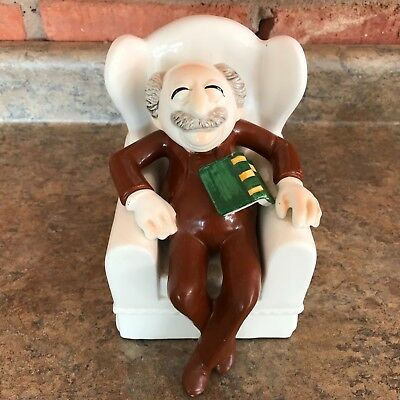 MUPPET SHOW WALDORF Bookend JIM HENSON 6.5 Inches Ceramic by Sigma Taste Setter