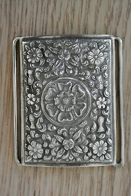 Quality 19th century Indian Kutch silver buckle and clasp