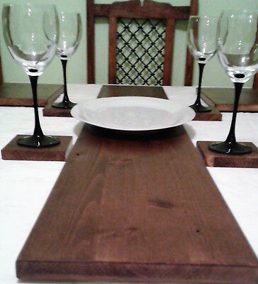 Solid Wood Table Runner - 5 Colours - Natural, Pine, Mahogany & Oak