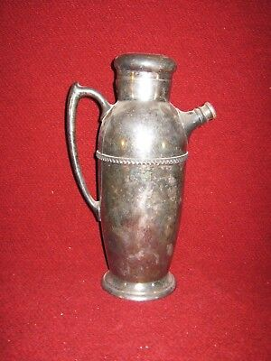 Antique Martini Pitcher Poole Silver Co. E.P.C. 1002 Taunton, MA