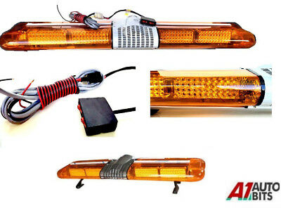 Led Warning Light Bar Beacon Amber Recovery Strobe 12v Fixed 1200mm 47""