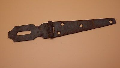 "Vintage Antique 10"" Hinged Hasp Latch Lock Gate Door Barn Rusty #2"