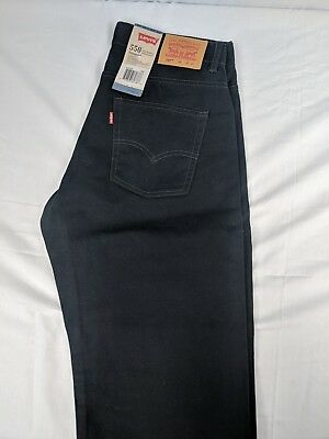 Boys Levis 550 Jeans adjustable waist Husky relaxed fit black  size 12H 32x27