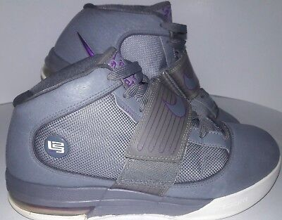 Nike Lebron James Zoom Solider IV 4 Gray Purple White Mid Top 407707-001  Size 1838057727c3a