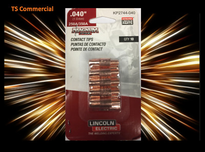 """Geniune Lincoln 10PK Electric Magnum Pro Contact Tips 3//64/"""" 250//350A KP2744-364A"""