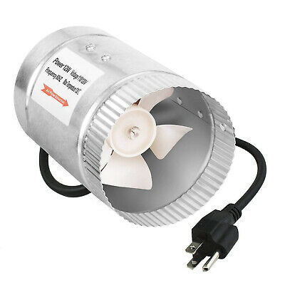 """iPower 4"""" Inch 100CFM Booster Fan Inline Ducting Vent Hose Exhaust Intake Blower"""