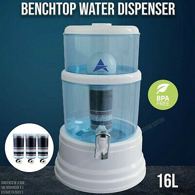 New 16L 8 Stage Awesome Water Filter Ceramic Carbon Mineral Bench top Dispenser