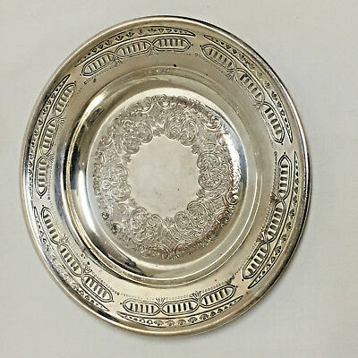 """Vintage Viking Silverplate 8"""" Round Serving Tray Coaster Etched Toronto Canada"""