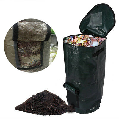 Organic Waste Kitchen Garden Yard Compost Bag Environmental PE Cloth Planter
