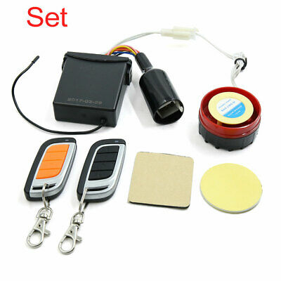 Motorcycle Scooter Security Safety Anti-Theft Alarm System Remote Controller Set