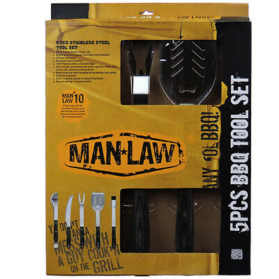 """MAN-LAW BBQ Grill Folding Fork 17.5/"""" long Stainless Rosewood Handle MAN-FT1-F"""