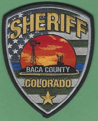 Baca County Sheriff Colorado Police Patch New Style