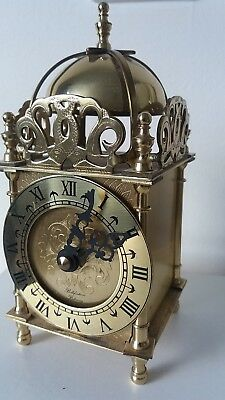 """Bellefontaine of Billericay "" English Domed,quartz brass Carriage clock."
