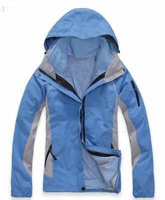 D09 Women Light Blue Ski Snow Snowboard Winter Waterproof Jacket 6 8 10 12  14 a4d7dac88