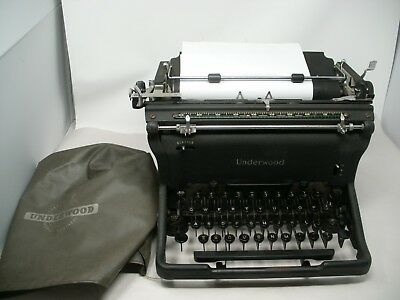 Vintage UNDERWOOD MASTER Typewriter Underwood Speeds the Business World w/chrome