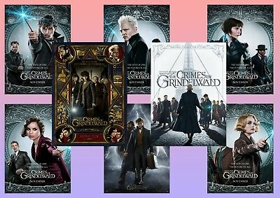 Fantastic Beasts the Crimes of Grindelwald: A5 A4 A3 character & Movie Posters !