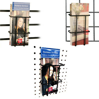 Slatwall, Pegboard & Gridwall Multi-fit Pamphlet Literature Holder, Wholesale
