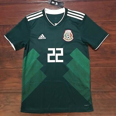 c164680d846 2018 MEXICO HOME Jersey  22 Hirving Lozano Small S S Adidas World Cup  Soccer NEW -  99.00