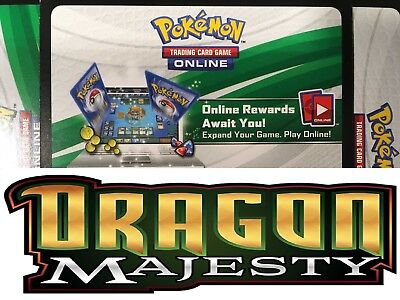 50x DRAGON MAJESTY Pokemon Online Pack Codes Sent Fast !