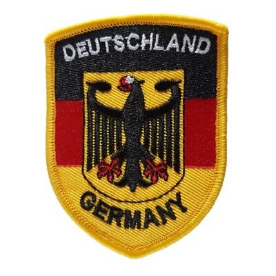 Germany Deutschland Eagle German Flag Iron On Patch Sew on Embroidered New