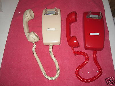ITT- NO DIALS MINI WALL  Telephone YOU ARE BIDDING ONE>> IN RED OR ASH