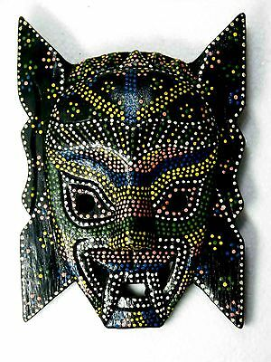 Ancient Tribal Tiki Wooden Ware, Wall Hanging Mask Bali Indonesian Style No.04